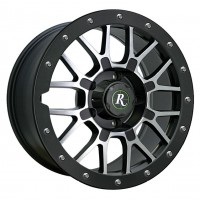 Диск литой RTC на atv/utv 12x7 (4/137; 5+2; Black/Mach)